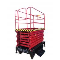 Mobile Scissor Lift With 300Kg Loading Capacity with 11m working height Manufactures