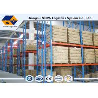 High Capacity Storage Pallet Warehouse Racking Metal Display With Frame Barrier Manufactures