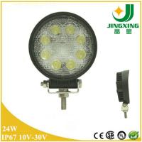 Round Shape Diecast Aluminum Housing 24W LED Work Lights For Trucks JX6602-24W Manufactures