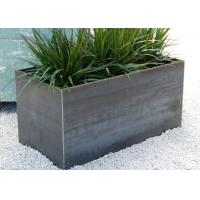 100cm Long Stainless Steel Rectangular Planter , Stainless Steel Flower Pots Manufactures