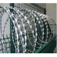 Concertina Razor Wire Stainless steel Double Cross Barbed Wire Manufactures
