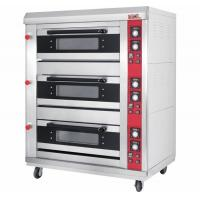 3-Layer 6-Tray Gas Baking Ovens Window Door Mechanical Controller Timer 120KW S/S Front Panel Manufactures