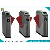 Double Wing IR Sensor Flap Barrier Gate Card Reader Or Push Button Turnstile Manufactures