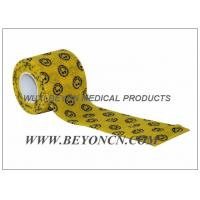 Smile Face Prints Custom Printed Self Adhesive Bandage Vet Cohesive Flexible Wrap Manufactures