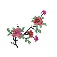 China Water Soluble Crochet 3D Flower Embroidered Applique Patches for Clothes and Dress on sale