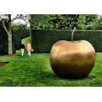Contemporary Garden Decoration Sculpture Large Bronze Apple Sculpture Manufactures