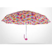 Rainproof Lightweight Travel Umbrella , Small Fold Up Umbrellas Aluminum Ribs Manufactures