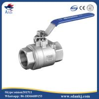 High quality 2 pcs female thread flat lever handle cf8m stainless steel ball valve Manufactures