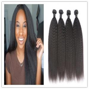 Kinky Straight Virgin Peruvian Hair Bundles 10A Grade Hair Extensions For Short Hair Manufactures