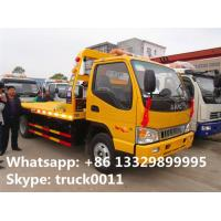 China famous JAC brand flatbed towing vehicle for sale, JAC brand 4*2 LHD car towing services platform wrecker vehicle Manufactures