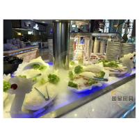 Quality Blue Led Display Restaurant Buffet Counter / Commercial Buffet Serving Tables for sale