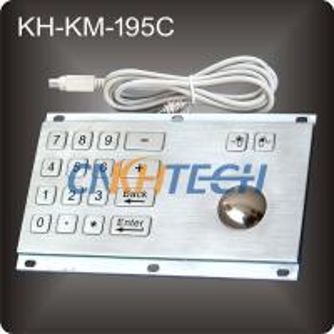 Metal kiosk trackball keyboard Manufactures