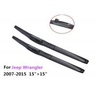"Flexible Soft Rubber Jeep Car Wiper Blades For  All Season 15"" + 15"" Manufactures"