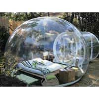 PVC Transparent Inflatable Bubble Tent 2 Tunnels For Camping 3 Years Warranty Manufactures