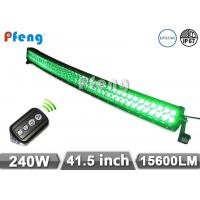 41.5 Inch 240W Green White Curved Led Light Bar With Wireless Remote Control Manufactures