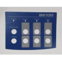 Custom Flat Membrane Switch Overlay , Instrument Panel Sticker Manufactures