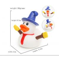 Snowman Shape Rubber duck Funny Christmas Themed Rubber Ducks For Holiday Decoration Outdoor Manufactures