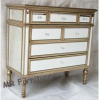 Gold Trimming Mirrored Buffet Table, Modern Mirrored Sideboards And Buffets Manufactures