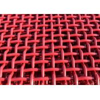 Red Mining Nickel Steel Crimped Woven Wire Mesh For Quarries And Coal Yards Manufactures