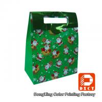 Quality Full Color Portable Custom Paper Gift Bags , Handmade Paper Christmas Gift for sale