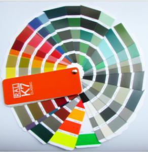 Metal color code ral classic color card K7 color chart ral color fandeck colour chart Manufactures