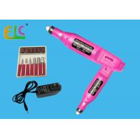 Portable Electric Nail Bits Nail File Machine ABS Case DC 9V 3000~20000RPM with 6 Drill Bits Manufactures