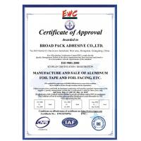 Broad Pack Adhesive Co., Ltd. Certifications