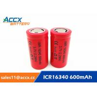 Buy cheap 16340HP 600mAh 16340 3.7V li-ion battery 10-20C high rate power battery for from wholesalers