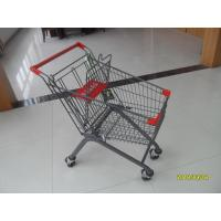 Quality Escalator Wheel 80L Supermarket Shopping Carts With Anti - UV Plastic for sale