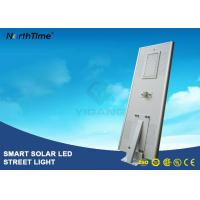 8000LM Wireless All In One Pole Solar Powered Road Lights With Bridgelux LED Chips Manufactures