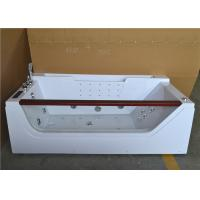 Double Ended Jacuzzi Whirlpool Bath Tub With Water Heater Left Center Drain Manufactures