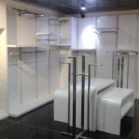 Real metal with wood clothes shelving stand Manufactures