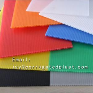 China Good quality polypropylene pp plastic sheet fluted corrugated plastic sheet 2mm coroplast sheets on sale