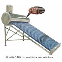 Pre heating solar hot water heater with copper coil heat exchanger Manufactures