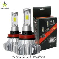 360° Beam Angle Led Headlight Bulbs , S9 9006 Fanless H7 Led Bulb Manufactures