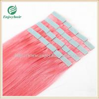 "Tape Hair extension 16""-28""L,100s/pack pink# color Straight malaysian virgin hair Manufactures"
