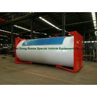 Steel 20ft LPG Storage Tanks Container With Pump , LPG Skid Station ASME Certificate Manufactures