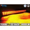 22 Inch 120W Cree Led Light Bar Amber White Flashing Emergency Lighting Bar Manufactures