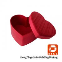 Delicate Colorful Printing Glossy Gift Boxes Heart Shape Pleating Silks And Satins Fabric Manufactures