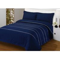 4Pcs Blue Bedding Sets , 100% Cotton Diamond Embroidered Navy Simple Bedding Sets Manufactures