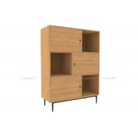 BSCI 80cm Width MDF Storage Cabinet With 3 Doors Manufactures