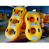 Yellow PVC Inflatable Water Toys Small Swimming Ring For Three People Manufactures