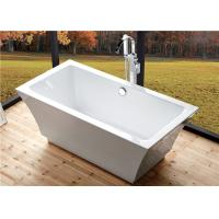 Residential Luxury Freestanding Bathtubs , Pedestal Soaking Tubs For Small Bathrooms Manufactures
