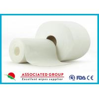 Non Woven Embossed / Big Dot Texture Spunlace  With Viscose and Polyester Manufactures
