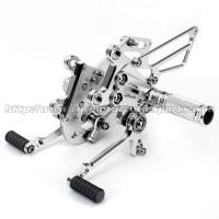 Silver / Black Motorcycle Rear Sets , Custom Motorcycle Foot Pegs Manufactures