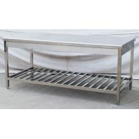 Quality Customized Double - Layer Stainless Steel Work Table 1.8m With MDF For Hotel for sale