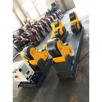 20 Ton Welding Turning Rolls , Heavy Duty Rotator PU Schneider Driver Manufactures