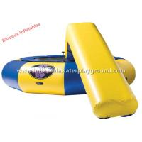 Quality Floating Swimming Inflatable Water Trampoline With Slide , Inflatable Combo for sale