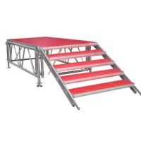 Indoor Aluminum Portable Stage Platform Fashionable With Red Carpet Surface Manufactures