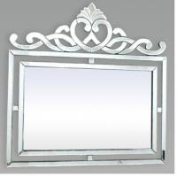 Wall Decor Square Venetian Mirror , Silver Framed Bathroom Wall Mirrors Manufactures